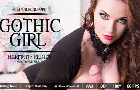 Gothic Girl Harmony Reigns Virtual Real Porn Review Image