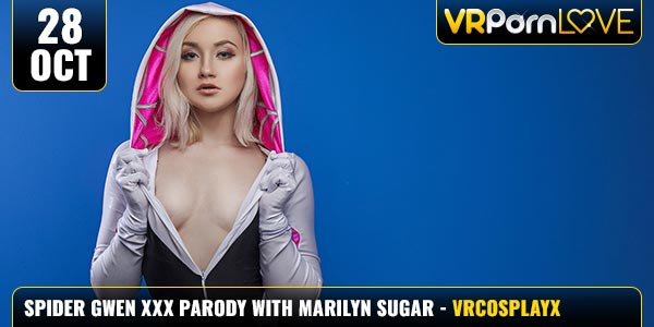 Spider-Gwen-VR-XXX-Parody-Marilyn-Sugar